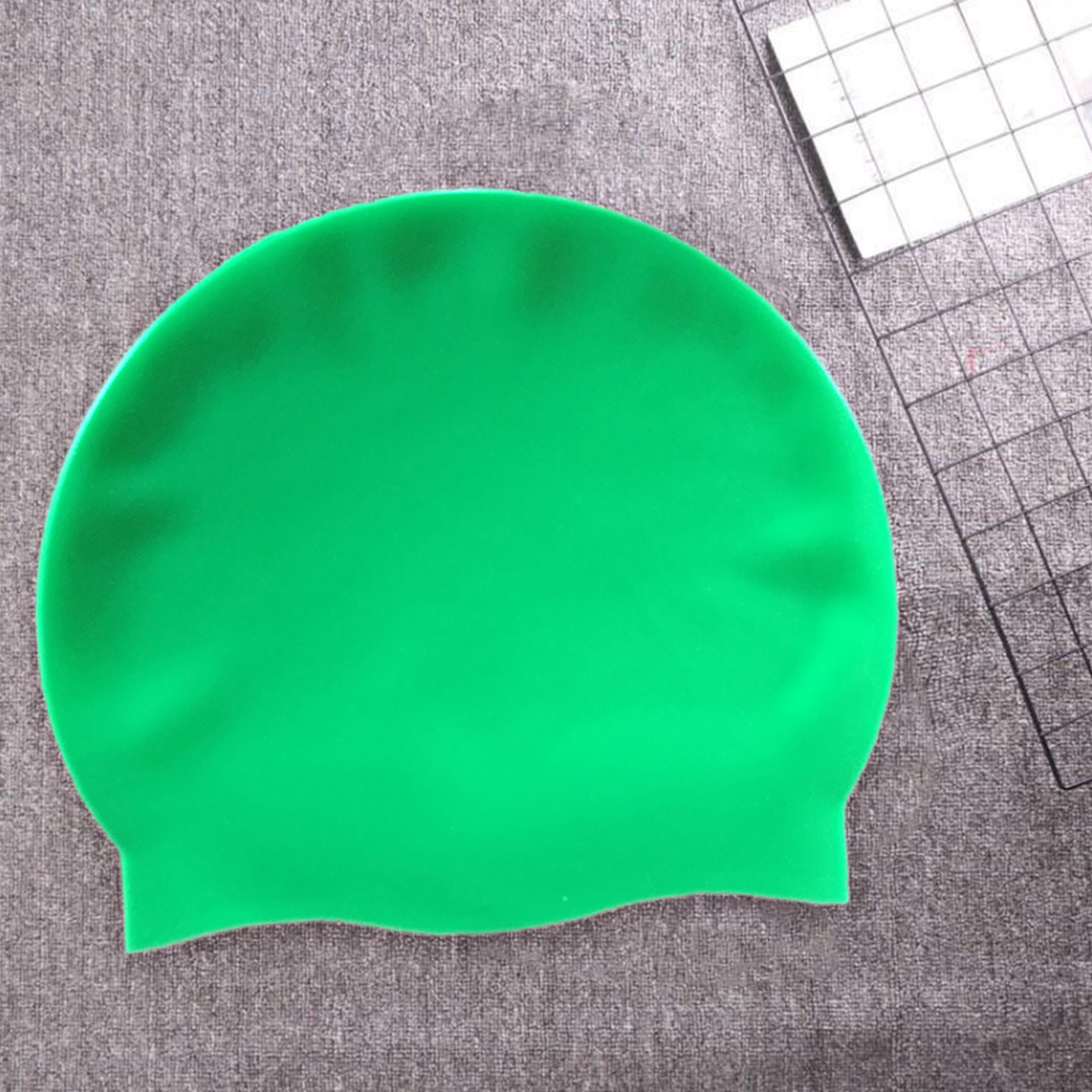 Silicone-Elastic-Waterproof-Protect-Ear-Swimming-Cap-Hat-for-Adult-Men-Women-NEW thumbnail 12